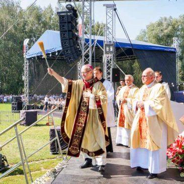 Fara Ciechanów, 28.08.2016. Diecezjalne obchody 1050. rocznicy chrztu Polski (fot. Andrzej Bajer)