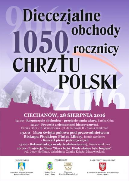 Diecezjalne obchody 1050. rocznicy chrztu Polski wCiechanowie