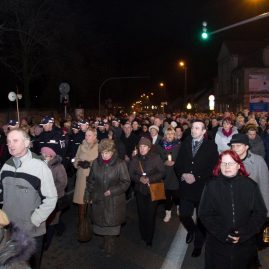 Droga krzyżowa ulicami miasta, 4 kwietnia 2014 r.