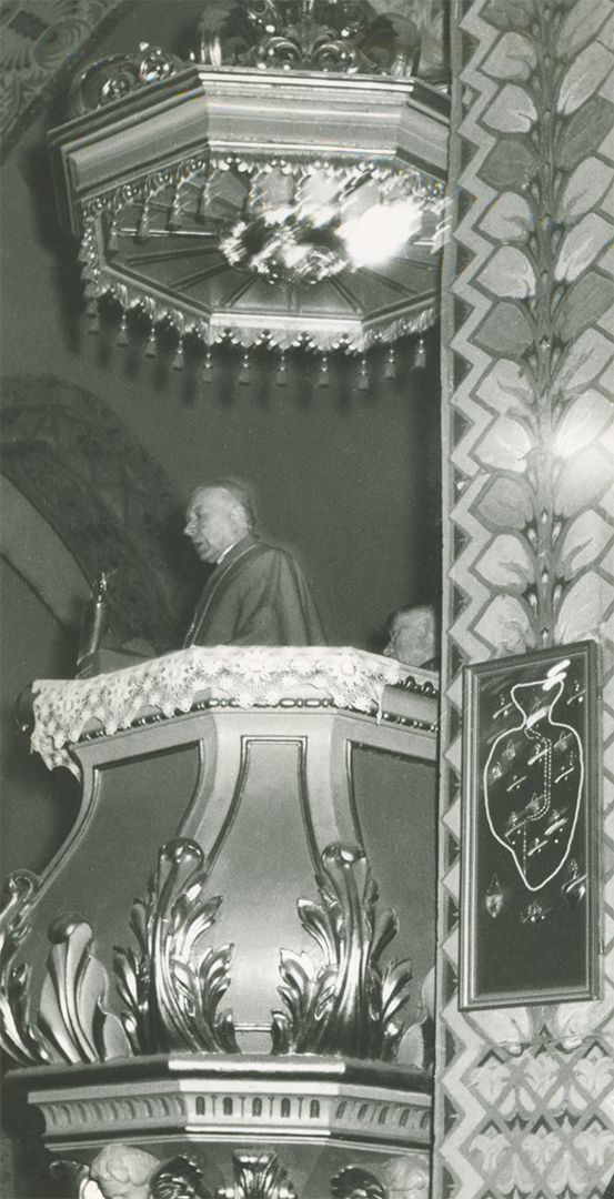 Fara Ciechanów, Prymas Polski w parafii farnej w Ciechanowie, 19 sierpnia 1967 r. Przemówienie w kościele.
